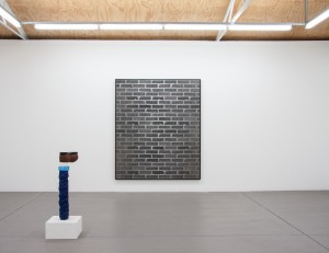 Artist Anna Kristensen Brick Wall painting Station Gallery Melbourne In the dust of this planet