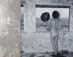 Artist Anna Kristensen Desert Window painting stainless steel Gallery 9 Render
