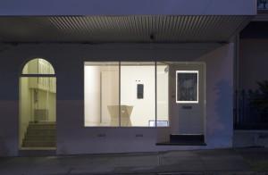 Cover, 2016. Acrylic on canvas, aluminium, marine ply, 43 x 73 x 87cm 'Blind', Knulp, Sydney, 2016, curated by Shane Haseman. Robert Pulie, Brian Fuata, Del Lumanta, Megan Hanson. Photo: Jessica Maurer