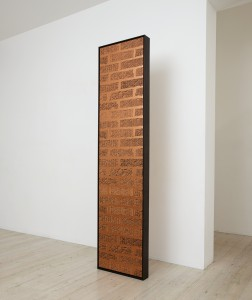 Artist Anna Kristensen Column copper brick wall double sided painting Gallery 9 Render