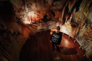Anna Kristensen Indian Chamber Wollongong Art Gallery Panorama painting cave painting