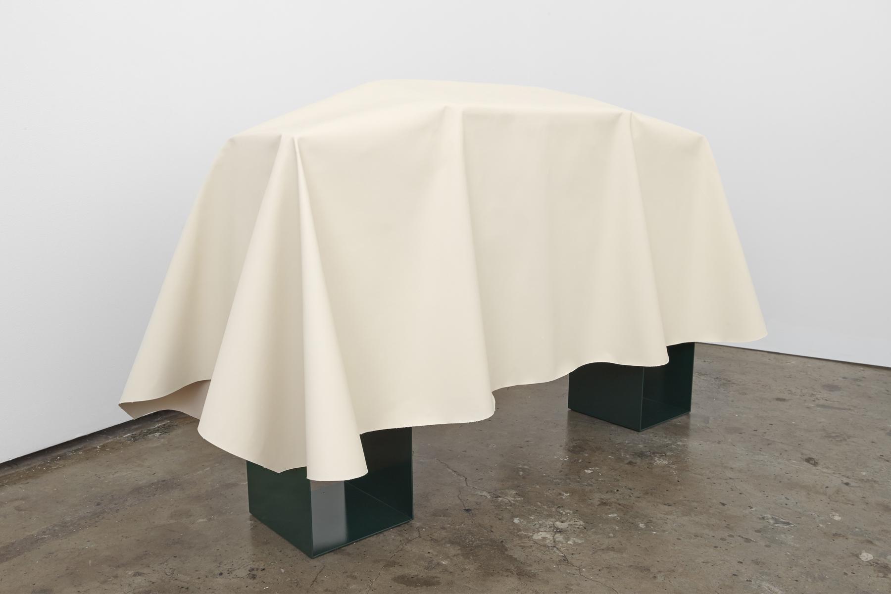 Artist Anna Kristensen Coat canvas reversible jacket monochrome painting minimalist sculpture BBQ altar funerary The Commercial